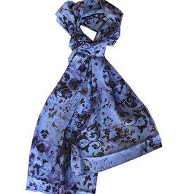 Tianello Bhakti Printed Silk Scarf, Sapphire