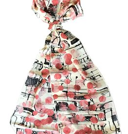 Tianello Jules Printed Silk Scarf, Butter