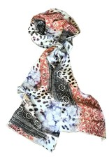 Tianello 'Have More' Printed Silk Scarf, Pistachio