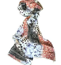 Tianello 'Have More' Printed Silk Scarf, Pistachio