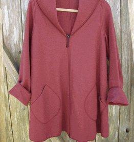 Cut Loose Zip Swing Jacket Boiled Wool