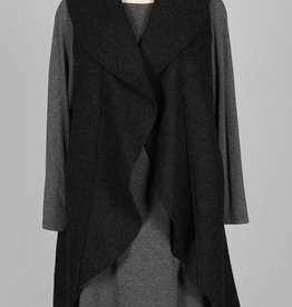 Cut Loose Waterfall Long Vest Boiled Wool