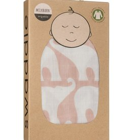 Milkbarn Swaddle Blanket - Rose Elephant