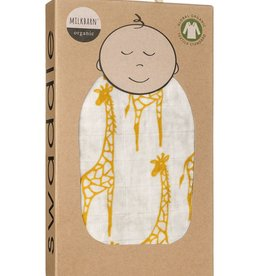 Milkbarn Swaddle Blanket - Yellow Giraffe