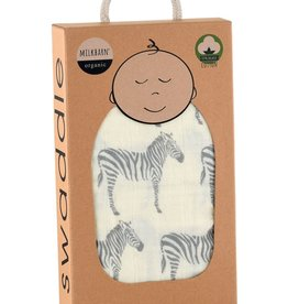 Milkbarn Swaddle Blanket - Grey Zebra