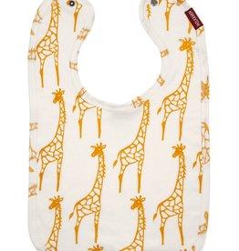 Milkbarn Traditional Bib - Yellow Giraffe