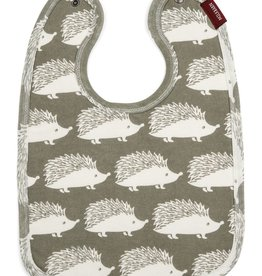 Milkbarn Traditional Bib - Grey Hedgehog