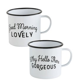 Creative Co-op Enamel Cup With Saying
