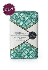 Soap & Paper Factory Block Party Muddled Peppermint Wrapped Soap Bar NET WT. 5OZ / 140G