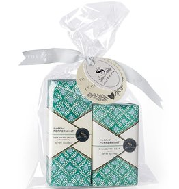 Soap & Paper Factory Muddled Peppermint Petite Hand Cream and Soap Set
