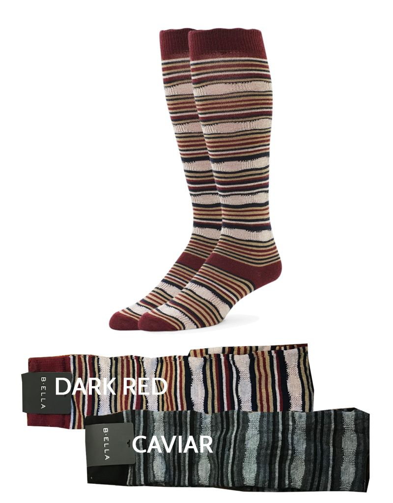 Biella/Standard Merch Kaleena Stripe Knee Socks