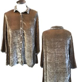 Cut Loose Velvet Flare Shirt