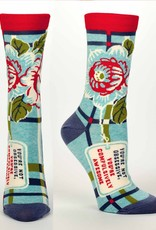 Blue Q Compulsively Awesome Socks