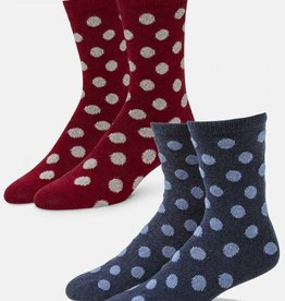 Biella/Standard Merch Bea Polka Dot Crew Socks