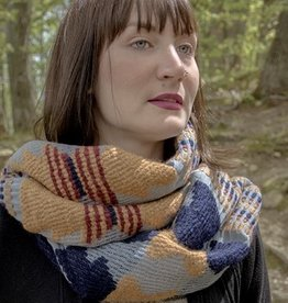 Rising Tide ECO Hourglass Blanket Scarf - Navy/Orange