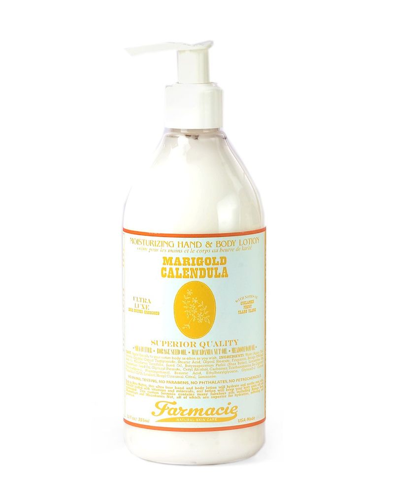 Soap & Paper Factory Marigold Calendula Body Lotion12 oz Pump Farmacie