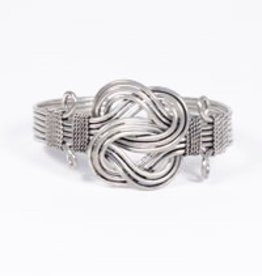 Handmade Expressions Buddha Knot Bracelet Silver