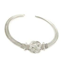 Matr Boomie Buddha Knot Necklace Silver