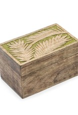 Matr Boomie Holi Color Rub Keepsake Box-Palm Leaf