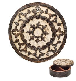 Matr Boomie Antique Finish Pivot Jewelry Box - Circle