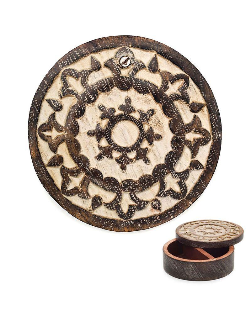 Matr Boomie Antique Finish Pivot Jewelry Box - Circle