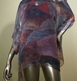 Cocoon House Silk Top w/ Long Points