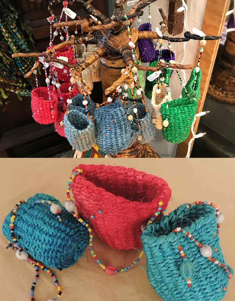 Denur Crafts Kenyan Mini Tribal gift basket - Kenya