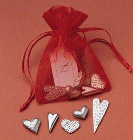 Vilmain Heart Pocket Charms in Red Bag