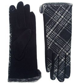 Bluebell Plaid Gloves