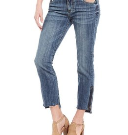 Kut from the Kloth Reese Step Hem Zipper Detail Ankle Jeans