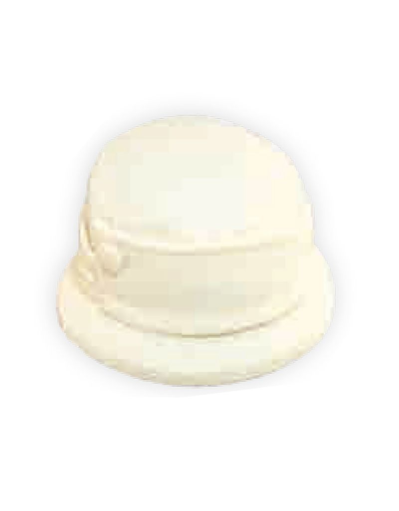 Dorfman Pacific Boiled Wool Cloche Hat w/ Button