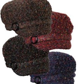 Dorfman Pacific Multi-Tone Tweed Jockey Hat