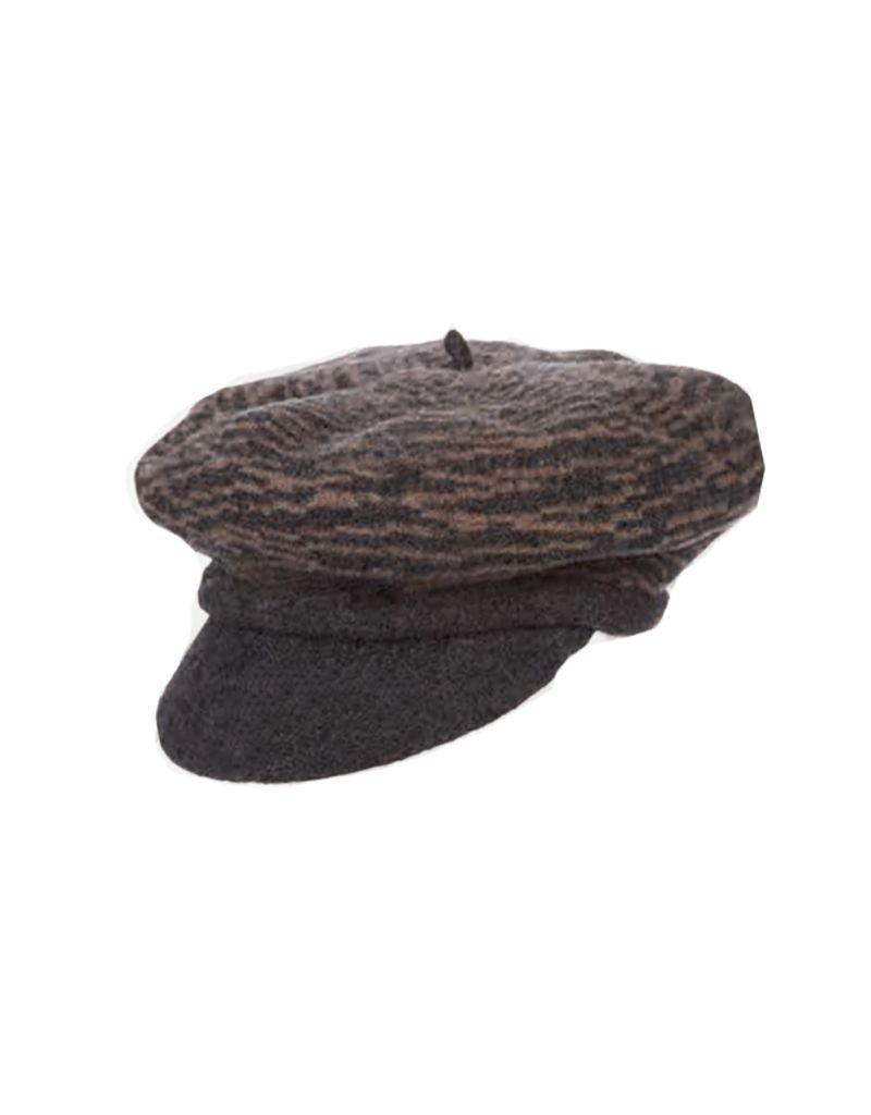 Dorfman Pacific Boiled Wool Two-Tone Newsboy Hat