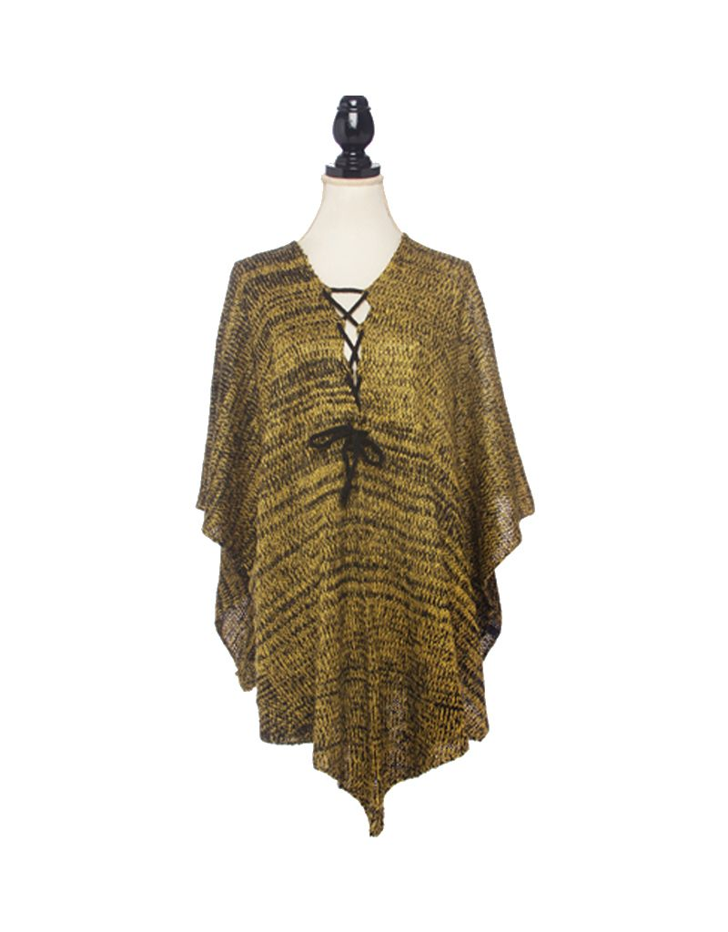 Bluebell Knit Poncho With Laces