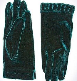 Bluebell Teal Green Velvet Gloves