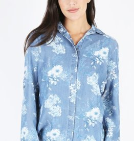 Kut from the Kloth Phoenix Printed Hidden Placket Top