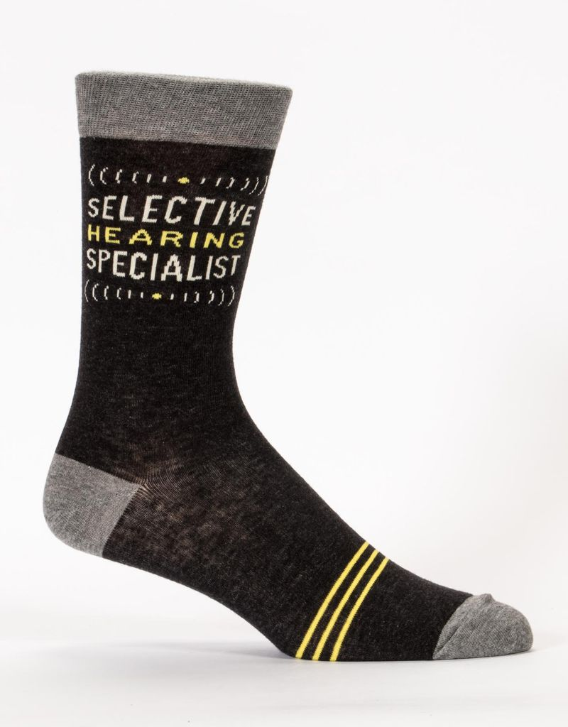 Blue Q Selective Hearing Men's Socks