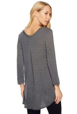 Nally & Millie 3/4-Sleeve French Terry Tunic