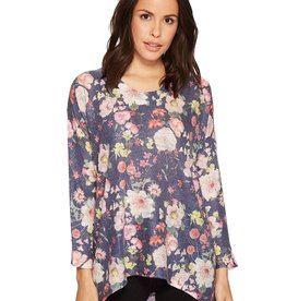 Nally & Millie Floral Print Knit Top