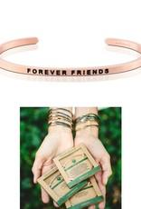 MantraBand Forever Friends Mantra Bracelet-Rose Gold
