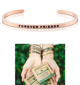 MantraBand Forever Friends Mantra Bracelet-Rose Gold