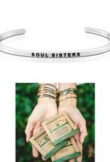 MantraBand Soul Sisters Mantra Bracelet - Silver