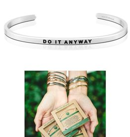 MantraBand Do It Anyway Mantra Bracelet - Silver