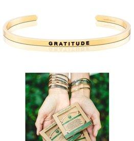 MantraBand Gratitude - Mantra Bracelet - Yellow Gold