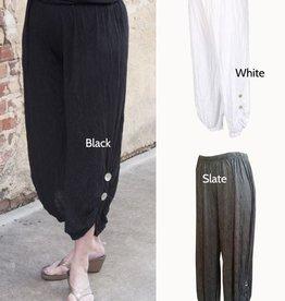 Comfy Comfy, Crinkle 2-Button Pant