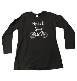Maria Luisa Hopper's Bike Womens L/S Tee 100% Combed Cotton