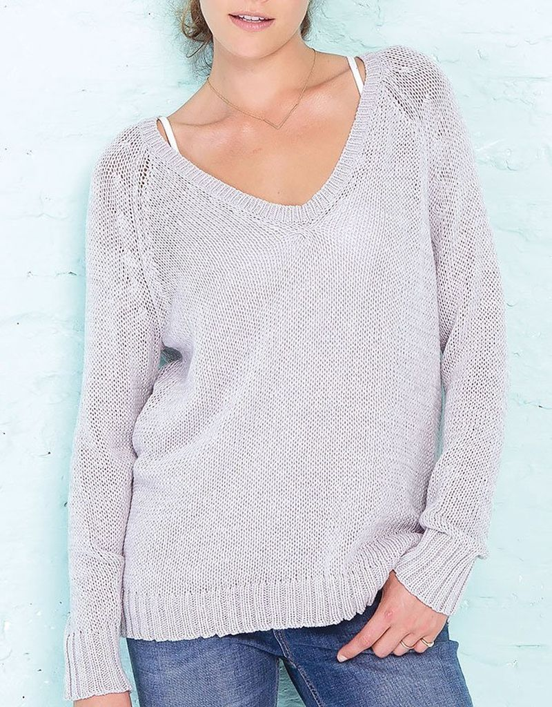 Wooden Ships Lexie Heathered Raglan Cotton Sweater