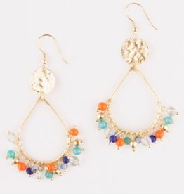 Mata Traders Confetti Hoop Earrings - Multi