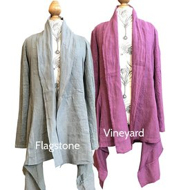 Cut Loose Inset Jacket L/W Linen Sweater
