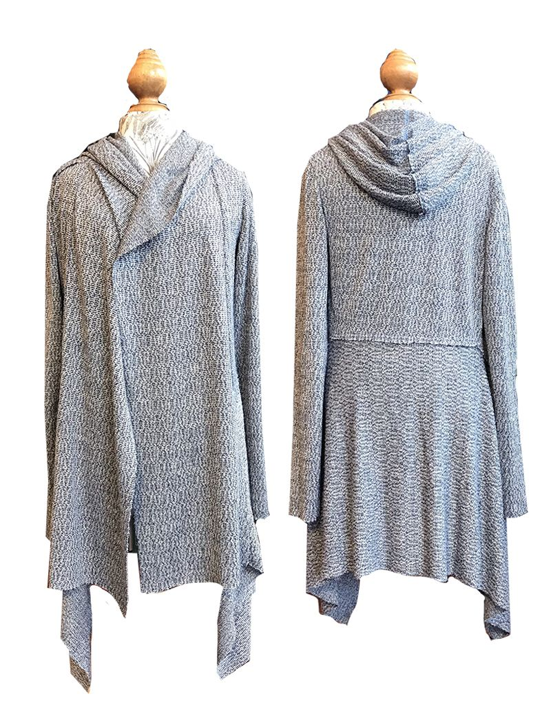Cut Loose Hooded Sweater Jacket